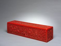 Scroll Box, 1644-1912 China, Qing dynasty (1644-1911) cinnabar lacquer on wood