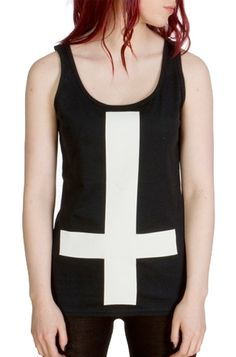 Girls Inverted Cross Vest (S) Pastel Punk, Look Rock, Clothing Company, Athletic Tank Tops, Cute Outfits, Vest, Fashion Outfits, Trending Outfits, My Style