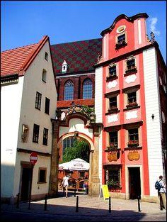 Wroclaw, Poland Jas i Malgosia Kamieniczki na Rynku