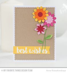Sensational Stitched Flowers Card Kit - Anna Kossakovskaya  #mftstamps