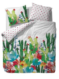 "Linge de lit COVERS & CO ""CACTUS"" Multi - Housse de couette, drap, taie…"