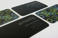 Emisiva business cards - Creattica