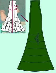 Sewing Circular Ruffles: How to Figure Out How Much Fabric You Need - Flamenco Dressmaking Costume Flamenco, Flamenco Dresses, Flamenco Skirt Pattern, Mermaid Skirt Pattern, Dress Patterns, Sewing Patterns, Spanish Dancer, Costume Shop, Pattern Cutting