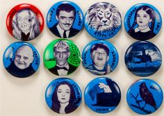 1964 Addams Family buttons
