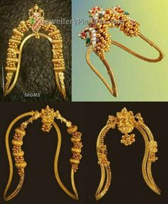 Home decor Home decor. 48139264 Heavy Kundan and Nakshi Vanki. Vanki Designs Jewellery, Gold Jewellery Design, Gold Jewelry, India Jewelry, Temple Jewellery, Ethnic Jewelry, Indian Wedding Jewelry, Bridal Jewelry, Latest Jewellery