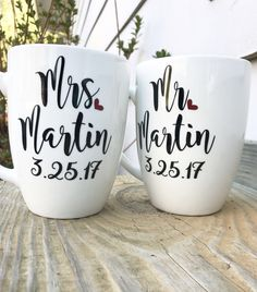 Engagement gift, engagement gif for best friend, engagement gift for  couples, his and hers mugs, anniversary gift, his and hers by MjMaeDesigns on Etsy https://www.etsy.com/listing/520063253/engagement-gift-engagement-gif-for-best