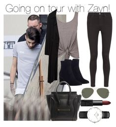 """""""Going on tour with Zayn!"""" by directionermixer01 ❤ liked on Polyvore featuring Don't Ask Amanda, AG Adriano Goldschmied, Zara, Zimmermann, Ray-Ban, NARS Cosmetics and Daniel Wellington"""