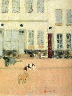 Street in Eragny-sur-Oise or Dogs in Eragny by Pierre Bonnard