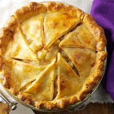 Browned Butter Apple Pie with Cheddar Crust Recipe is shared by Kathryn Conrad of Milwaukee, Wisconsin.