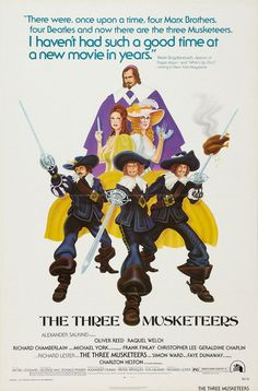 The Three Musketeers - Oliver Reed, Raquel Welch, Richard Chamberlain, Michael York, Faye Dunaway Great Movies, New Movies, Excellent Movies, Richard Lester, Richard Chamberlain, Oliver Reed, Faye Dunaway, The Three Musketeers, Raquel Welch