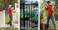 Fences: Learn how to install, remove and repair fences with these how-to articles and tips. Read more: http://www.familyhandyman.com/garden-structures/fences