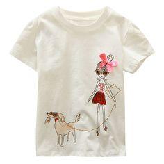 Brand Kids 18M-6Y Baby Boys Girls T-Shirt New Summer Short Sleeve Tees Children's Tops Clothing Cotton Cartoon Pattern Tshirt