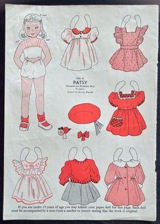 1948, PATSY Mag. Paper Dolls, Wee Wisdom Mag.,Dorothy Wagstaff Artist   eBay