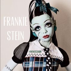 monster high makeup customes frankie - Google Search  sc 1 st  Pinterest & Frankie Stein Monster High Doll Costume Makeup Tutorial for ...