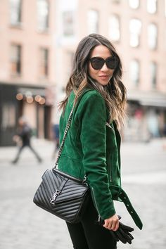 Shop Saint Laurent: Authentic Discount Designer Handbag Outlet - Clutches, Crossbody, Shoulder, Totes, Wallets and More. Green Suede Jacket, Bag Sewing, Best Designer Bags, Designer Handbags, College Bags, Ysl College Bag Medium, Look Fashion, Womens Fashion, Fashion 2016