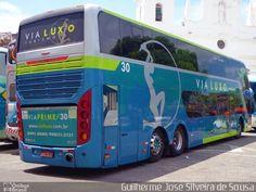 Ônibus da empresa Via Luxo, carro 030, carroceria Busscar Panorâmico DD 2009, chassi Volvo B12R. Foto na cidade de Belém-PA por Guilherme José Silveira de Sousa, publicada em 15/11/2016 19:51:11.
