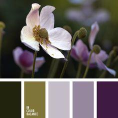 color púrpura claro, color verde malaquita, tonalidades violetas, tonos verdes, verde hierba, verde joven, verde lechuga, verde nefrita, verde y violeta, violeta, violeta pálido.