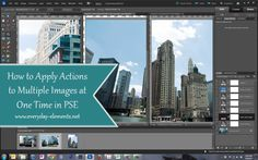 apply an action to multiple images at once in PSE.   Tutorial shows an easy way to do just that!
