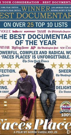 Directed by JR, Agnès Varda.  With Jean-Paul Beaujon, Amaury Bossy, Yves Boulen, Jeannine Carpentier. Director Agnes Varda and photographer/muralist J.R. journey through rural France and form an unlikely friendship.