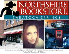 [September 2, 2015] Meet fantasy / sci-fi author, K. Williams during a Local Author Spotlight event starting at 6pm.