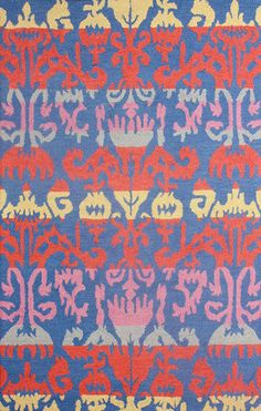nuLOOM Hand Hooked Wool Peggy Ikat Rug | Transitional Rugs