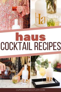 If you love wine cocktails, you need to try out these delicious mixed drink ideas using a bunch of different types of alcohol and Haus aperitif wines. Wine Mixed Drinks, Easy Mixed Drinks, Wine Cocktails, Refreshing Cocktails, Easy Cocktails, Yummy Drinks, Cocktail Recipes, Lavender Lemonade, Cocktail Making