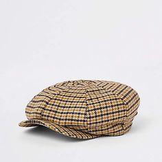 a328ebe4674 Mustard yellow check baker boy cap - Hats   Caps - Accessories - men