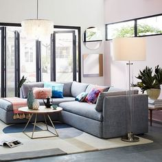 Shelter 2-Piece Terminal Chaise Sectional | west elm
