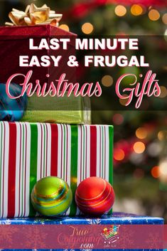 Frugal Easy Last Minute Christmas Gifts