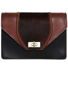 Givenchy black and brown ponyhair clutch // The Extras: Natural Beauties & In the Buff