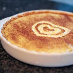 Milk Tart Recipe - RecipesAllDay | How To Make a Milk Tart Custard Recipes, Shortbread Recipes, Tart Recipes, Pudding Recipes, Dessert Dishes, Tasty Dishes, Dessert Recipes, Desserts, Melktert Recipe