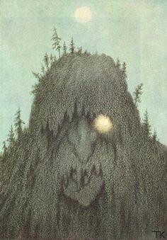 Theodor Kittelsen - Forest troll