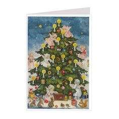 Decorating the Tree Angels Advent Calendar Card ~ Germany ~ New for 2013