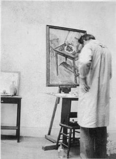 Arshile Gorky at his is easel. www.spectator.co.uk