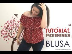 DIY Tutorial y patrones: Blusa sin hombros (Oh, Mother Mine DIY! Sewing Clothes, Diy Clothes, Sewing Hacks, Sewing Tutorials, Sewing Projects, Diy Couture, Sewing Patterns Free, Refashion, Diy Tutorial