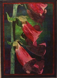 Gallery of watercolor style art quilts by Lenore Crawford.