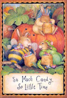 susan wheeler beatrix potter halloween cards card designs greeting card - Wheeler Farm Halloween
