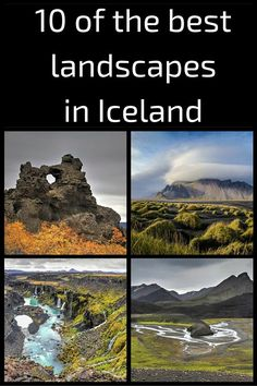 10 of the best landscapes in Iceland... including Dimmuborgir lava field, Kirkjufell mountain and waterfalls, the pseudocraters of lake Myvatn... just to name a few