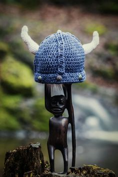 Crochet viking hat by me :)
