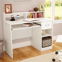 $100 white desk South Shore Axess Computer Desk with Keyboard Drawer & Reviews | Wayfair