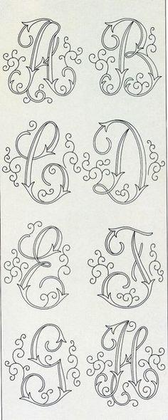 Letras con adornos