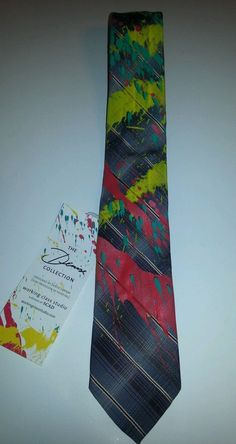 SCAD Savannah College Art Design Paint Splatter Tie Working Class Upcycled OOAK #WorkingClassStudio #Tie