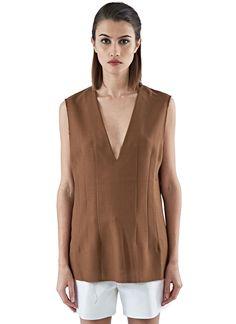 MARNI Women'S Oversized Darted Tank Top In Brown. #marni #cloth #