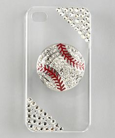 Take a look at this Rhinestone Junkie Clear Rhinestone Baseball Case for iPhone 5 on zulily today!