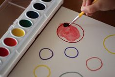 Such a great idea to teach painting control and cleaning brush between colors. I love this!