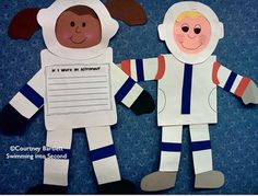 "- Planets in our Solar System - Astronaut craft, writing paper, and bulletin board letters. This would be a great creative writing activity: ""If I were an astronaut. Space Classroom, Science Classroom, Teaching Science, Future Classroom, Team Teaching, Space Activities, Writing Activities, Moon Activities, Astronaut Craft"