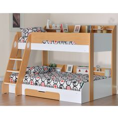 Best Atlantis Grey Wooden Triple Sleeper Bed Frame 3Ft Single 400 x 300
