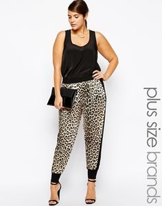 Pink Clove Animal Contrast Sides Track Pant