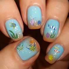 Sparkly Nails - Little Fishies Nail Water Decals