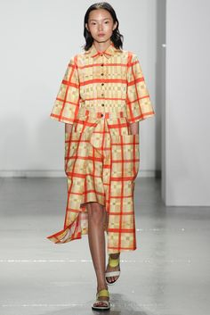 Look 8 Suno Spring 2014 #NYFW #plaid